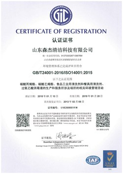Environmental management system certification Chinese